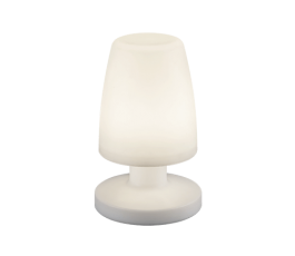 Lampe de table rechargeable Dora - 20cm - 1,5W - 3000K° - 90Lm - Blanc - Trio