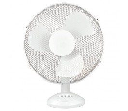 Ventilateur de table - 40cm - 55W - 230V - Blanc - Eurolamp