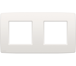 Plaque double horizontale Original White - Entraxe 71mm Niko