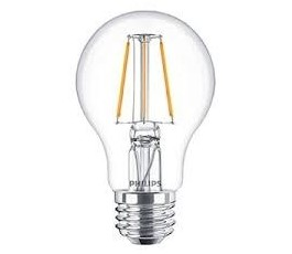 Ampoule Classic LEDbulb Filament - A60 - Dimmable - 5,5W - 470lm - 2700k° blanc chaud - E27 - 230V - Philips