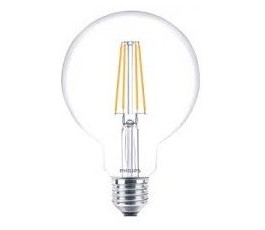 Ampoule Classic LEDbulb Filament - G93 - Dimmable - 8W - 2700K° blanc chaud - 806lm - E27 - 230V - Philips