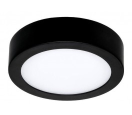 Applique / Plafonnier Led Moon 145 - Rond - 8W - 520lm - 3000K° blanc chaud - Ø14,5cm - IP54 - Noir - Uni-bright