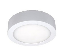 Applique / Plafonnier Led Moon 180 - Rond - 14W - 940lm - 3000K° blanc chaud - Ø18cm - IP54 - Blanc - Uni-bright