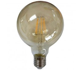 Ampoule Led Globe Filament - dimmable - G125 - 8W - 1055lm - 2400K° blanc chaud - E27 - 230V - Eurolamp