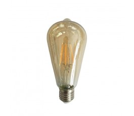 Ampoule Led Filament - non-dimmable -  ST64 - 4W - 480lm - 2400K° blanc chaud - E27 - 230V - Eurolamp
