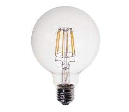 Ampoule Led Globe Filament - non-dimmable - G125 - 6W - 806lm - 2700K° blanc chaud - E27 - 230V - Eurolamp