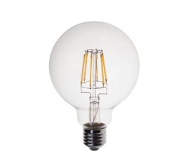 Ampoule Led Globe Filament - non-dimmable - G95 - 6W - 806lm - 2700K° blanc chaud - E27 - 230V - Eurolamp