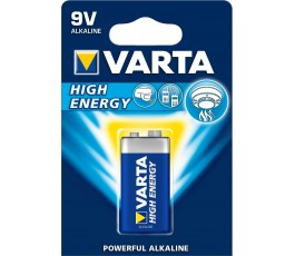 Pile alcaline Hight Energy - 9V - 6LR61 -  Varta